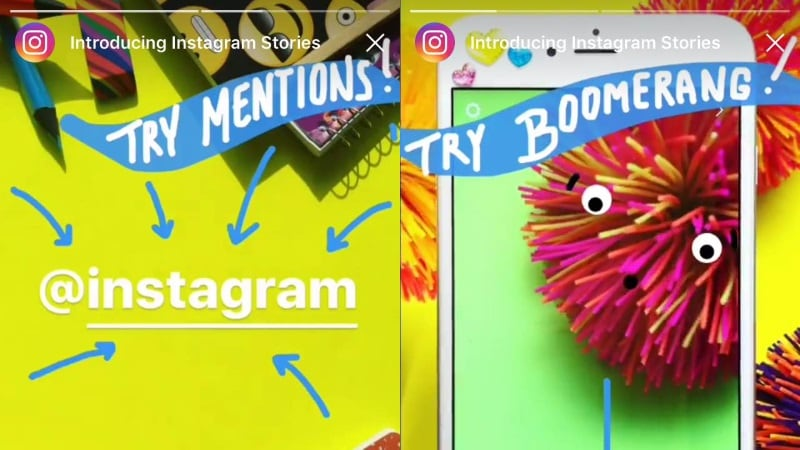 Instagram Adds 'Boomerang' and 'Mentions' to Stories; Confirms It's Working on Live Video