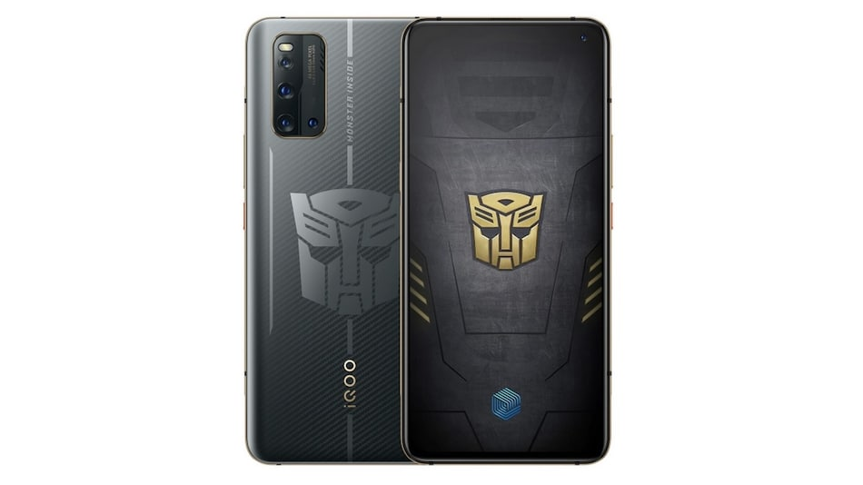 iQoo 3 Transformers Limited Edition With Transformers Logo, Gold Accents Launched: Price and Specifications