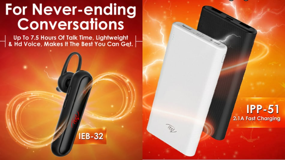 Itel IEB-32 Bluetooth Headset, IPP-51 10,000mAh Power Bank Launched in India