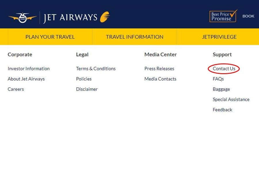 Jet Airways Customer Care Step 1 900