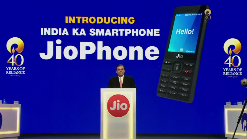 Jio Phone, 'Effectively Free', Launched By Mukesh Ambani at Reliance AGM: Highlights