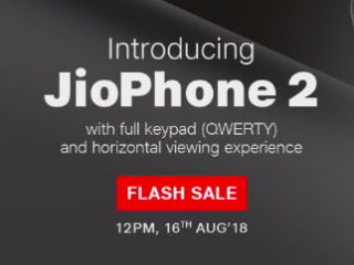 Jio Phone 2 to Be Available on August 16 via Flash Sale