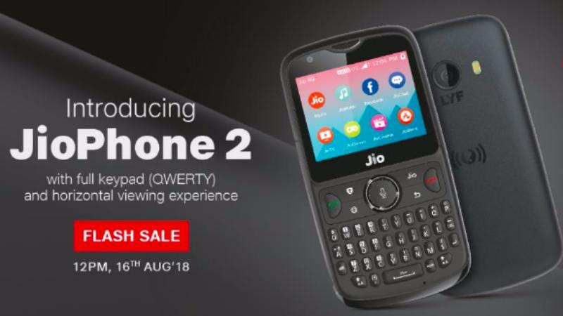 Jio Phone 2 की फ्लैश सेल 16 अगस्त को
