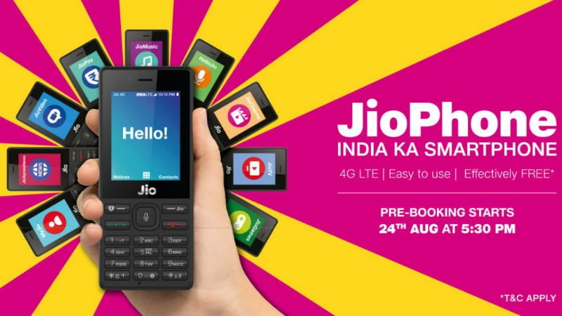 Jio Phone की बुकिंग शुरूः वेबसाइट क्रैश, मायजियो ऐप भी नहीं चल रहा
