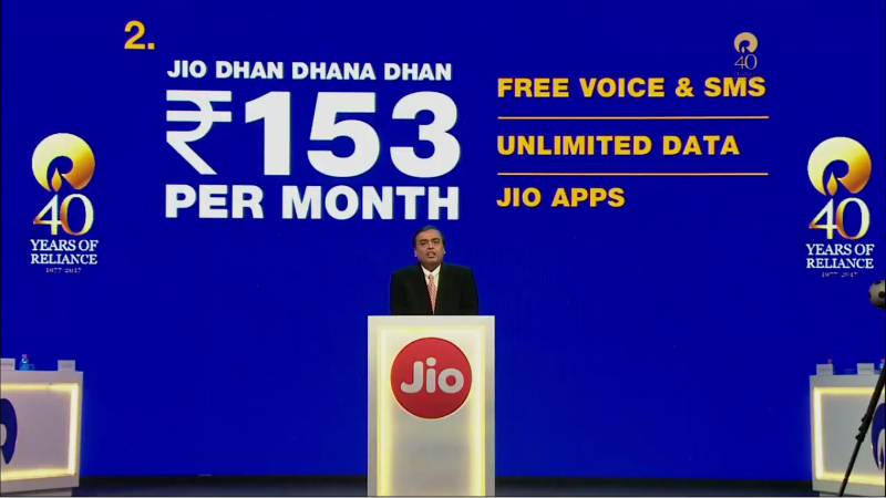 Jio Phone Plans Announced, Unlimited 4G Data at Rs. 153 Per Month