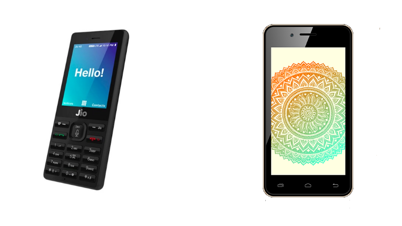 Jio Phone vs Airtel Rs. 1,399 Karbonn A40 Indian 4G Android Smartphone