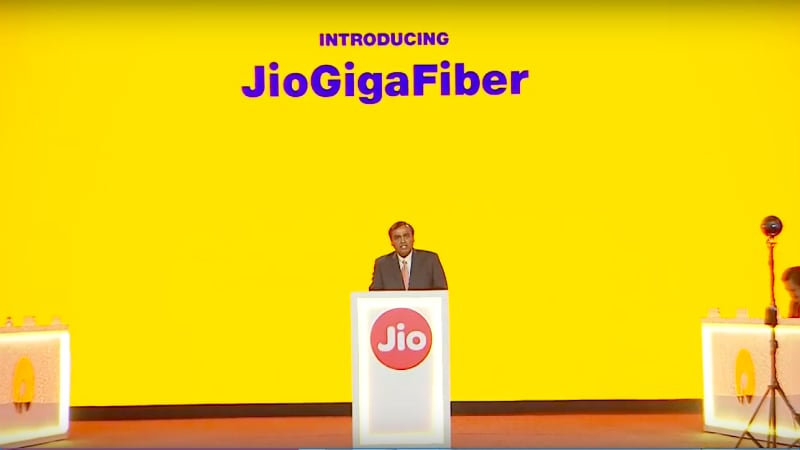 Jio GigaFiber Announced for 1,100 Cities, Registrations Begin August 15
