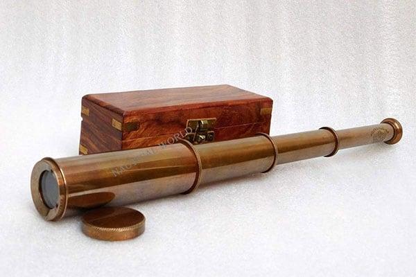 KHUMYAYAD Brass Telescope Hand Made Antique Marine Spyglass 1611730654266