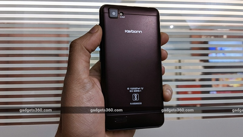 Karbonn A40 Indian back ndtv Karbonn