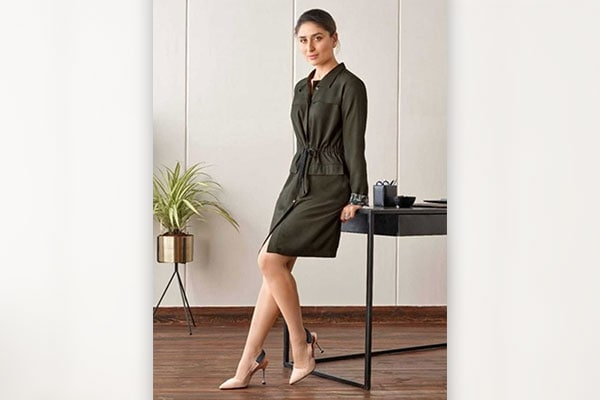 Buy This Olive Green Kareena Dress Online