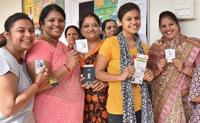 In Karnataka, 70.9 Per Cent Voting -- A Shade Less Than 71.4 Per Cent In 2013