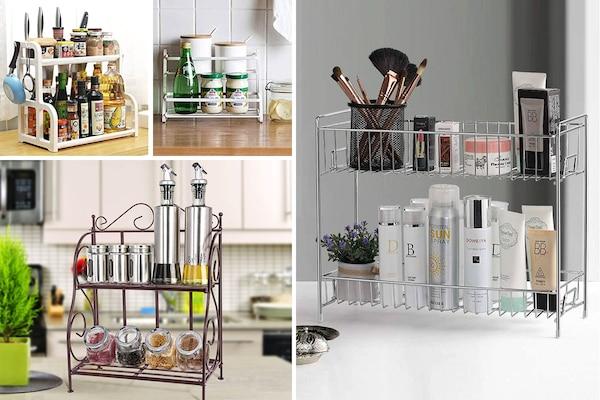 De-Clutter Kitchen Countertops Using The Best Shelves