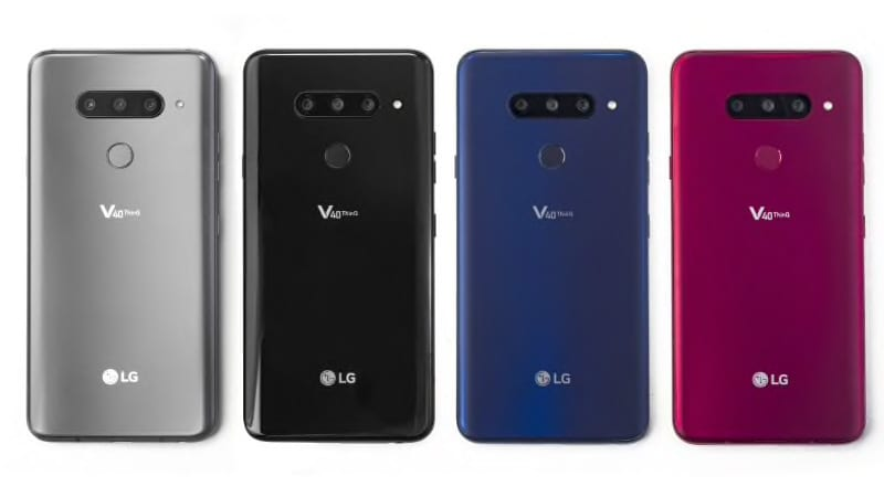 LG V40 ThinQ India Launch Confirmed for January 20, Will Be an Amazon-Exclusive