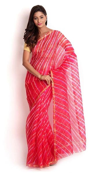 Leheriya Saree Kasturi B Women Kota Silk Leheriya Saree 1559133594884
