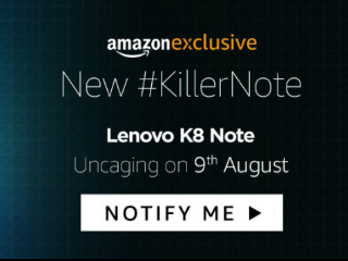 Lenovo K8 Note, Launching in India on August 9, Will Be Exclusive to Amazon