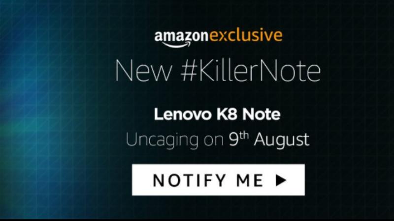 Lenovo K8 Note एक्सक्लूसिव तौर पर अमेज़न इंडिया पर मिलेगा
