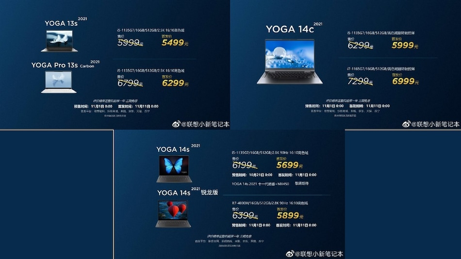 Lenovo Yoga 13s Series, Lenovo Yoga 14s, Lenovo Yoga 14c Laptops With 11th Gen Intel Processors Launched