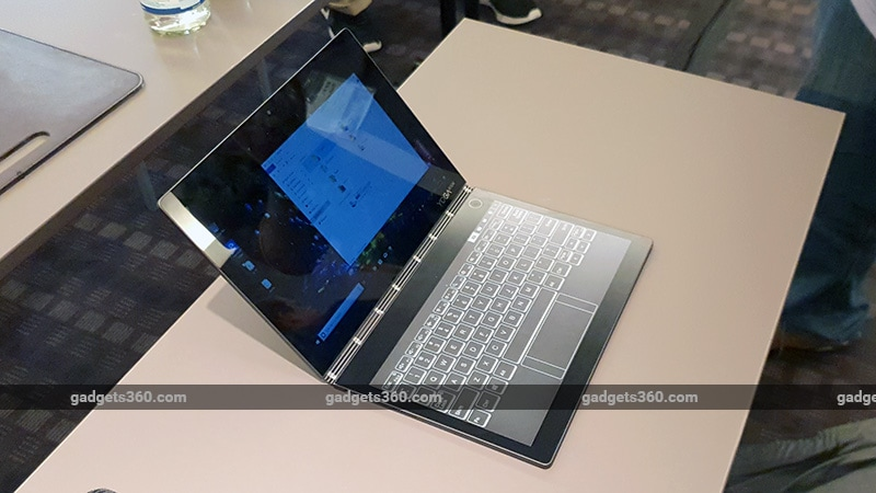 Hands On With the Lenovo Yoga Book That Replaced the Keyboard With a Display