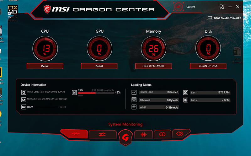 MSI GS65 Stealth Thin 8RF dragon msi