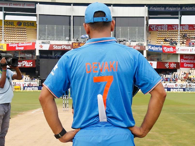 Mothers' Day Out: MS Dhoni And Co. Wear Jerseys With Moms' Names in ODI vs NZ
