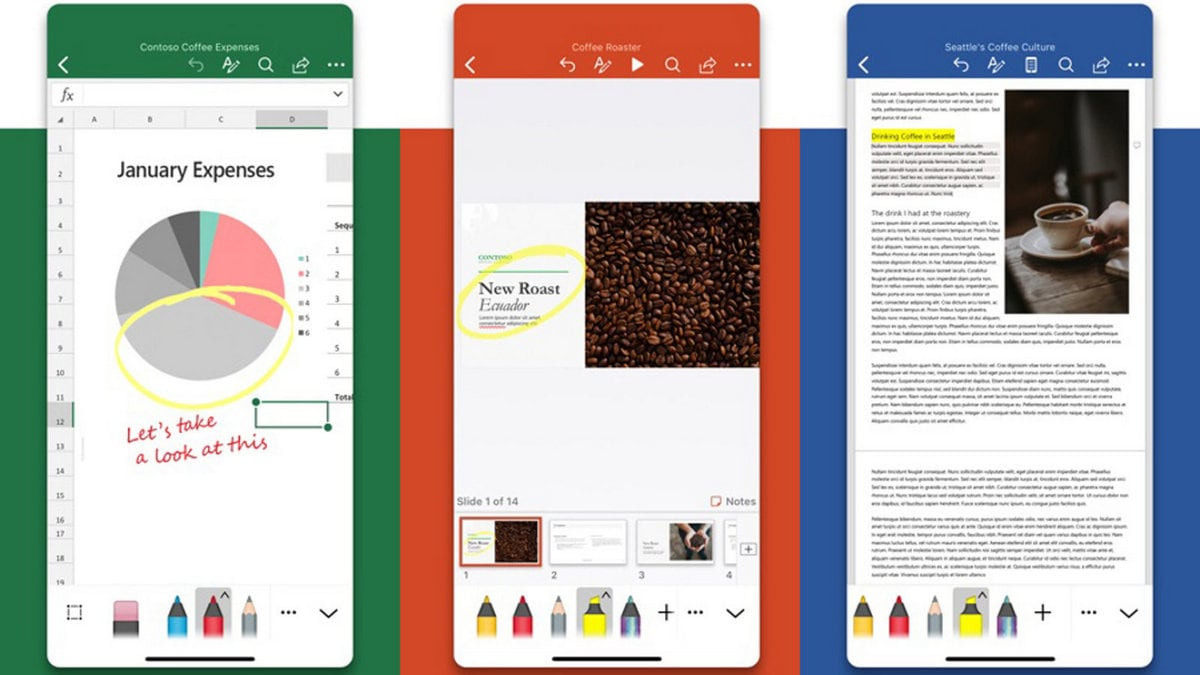 Word, Excel, and Powerpoint are getting a new look on iOS
