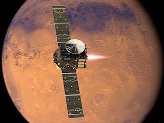 Schiaparelli Lander Reaches Mars Surface but Final Fate Uncertain