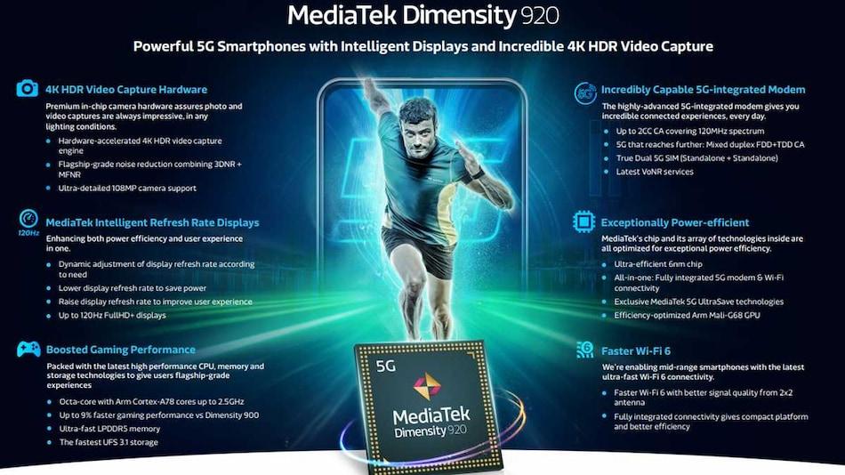 MediaTek Dimensity 920, Dimensity 810 Mobile SoCs With 5G, 120Hz Display Support Announced