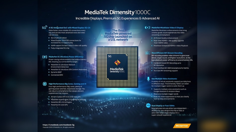 MediaTek Dimensity 1000C Octa-Core SoC With 5G Support Announced, Will Power the T-Mobile LG Velvet