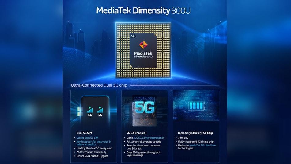 MediaTek Dimensity 800U Octa-Core SoC With Enhanced 5G for Mid-Range Smartphones Launched