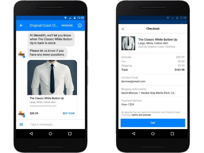 Facebook Messenger Chatbots Get Payment Support