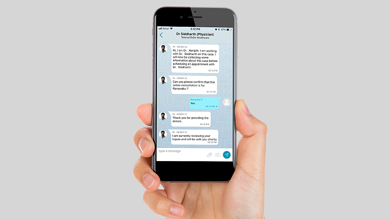 Mfine chat feature Mfine