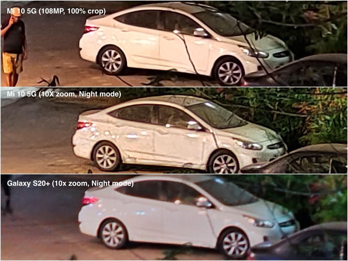 Mi 10 5G zoom comparo đêm samsung
