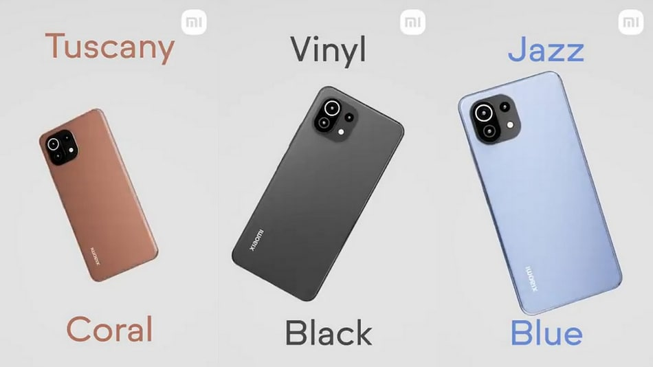 Mi 11 Lite Colour Options Revealed by Xiaomi Ahead of Its India Launch on June 22