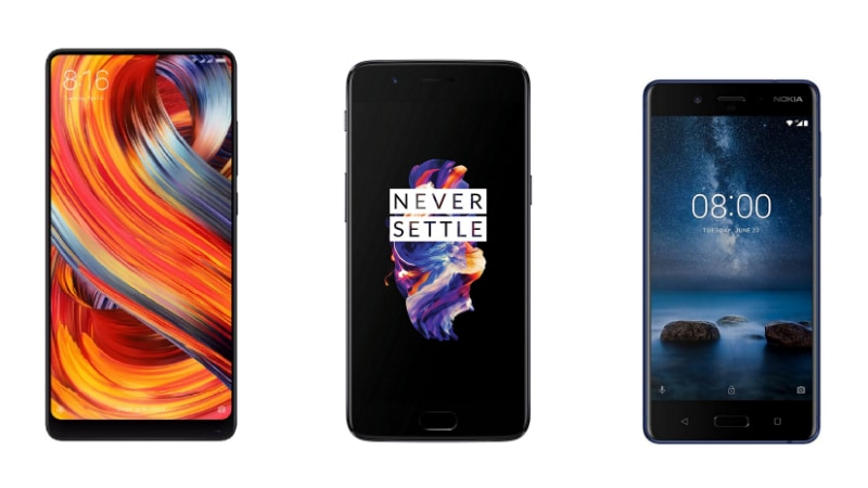 Xiaomi Mi MIX 2 vs OnePlus 5 vs Nokia 8: Price, Specifications, Features Compared