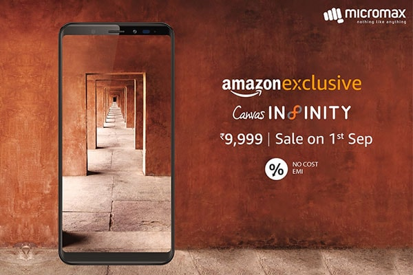 Micromax Canvas Infinity Sale on 1st September on Amazon.in, Know Specifications, Price in India