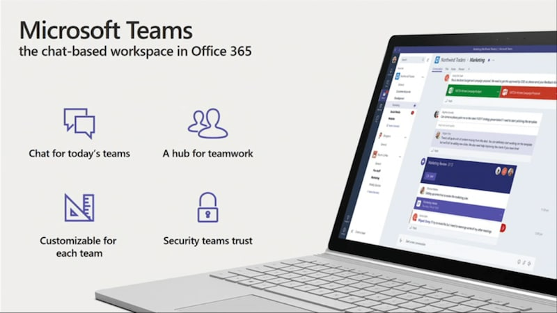 microsoft teams launched in preview a slack rival for