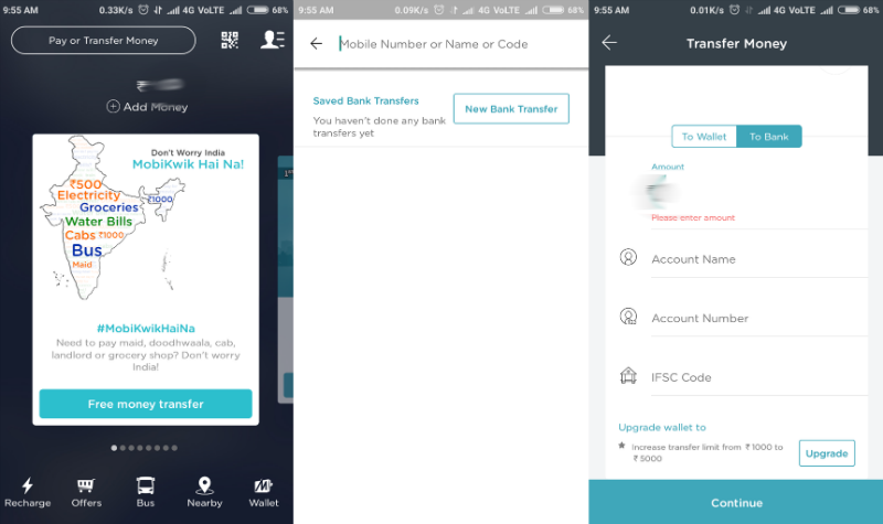MobiKwik app how_to_transfer_money_from_mobikwik_to_bank_account