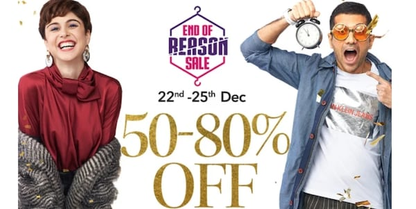Myntra End of Reason Sale 2019: Avail Upto 50-80% Off + 10% Instant Discount with HDFC Bank Credit/Debit Card