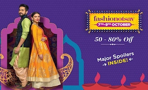 Myntra Fashionotsav Sale 7th-9th Oct 2017, Prep Up For Diwali with Handpicked Best Deals