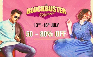 Myntra Offers, Sale - Blockbuster Returns Sale from 13th to 16th July