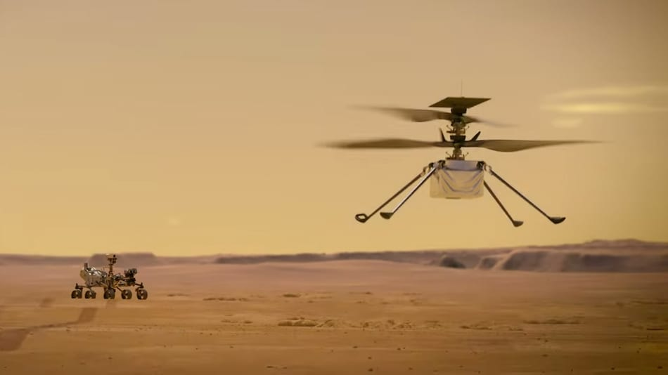 NASA's Tiny Mars Copter Ingenuity Is Still Flying High After 12 Successful Flights