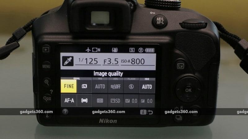 Nikon D3400 menu ndtv Nikon D3400