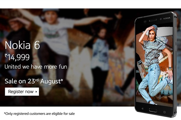 Nokia 6 Sale on Amazon: Buy Nokia 6 at a Price of Rs. 14,999 in India