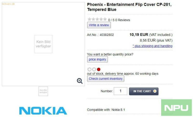 Nokia 9, 8.1 Cases Leaked Online Ahead of Launch: Report