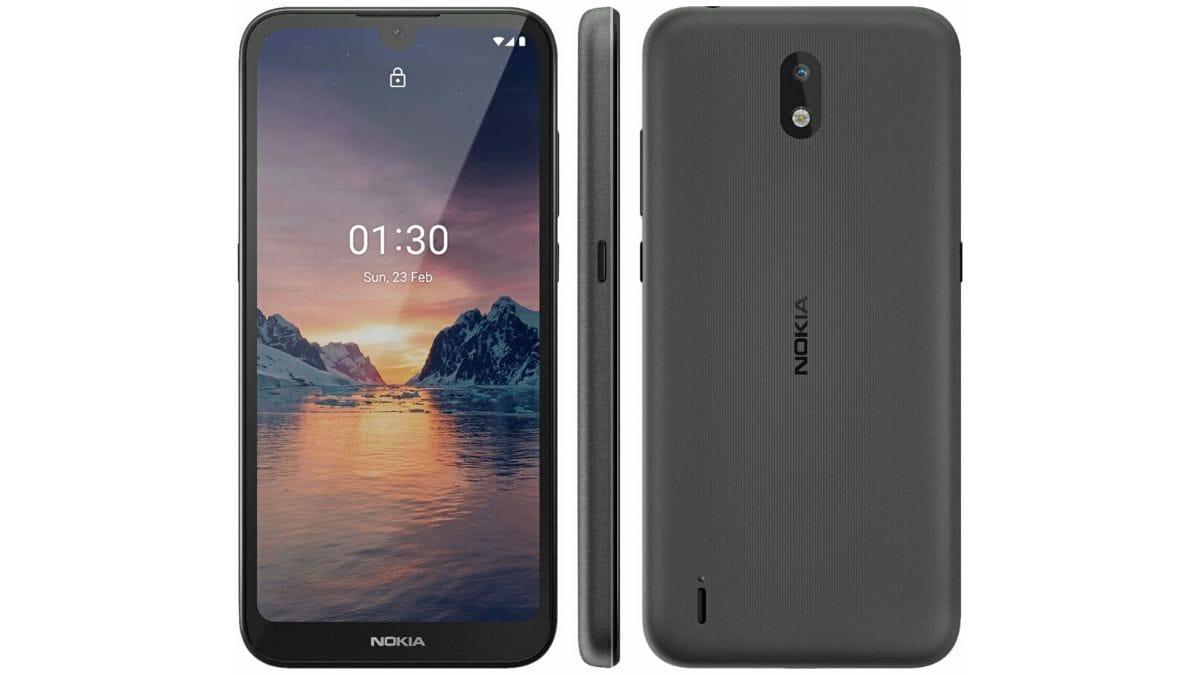 Nokia 1.3 Render Leak Shows Waterdrop Notch Display, Single Rear Camera