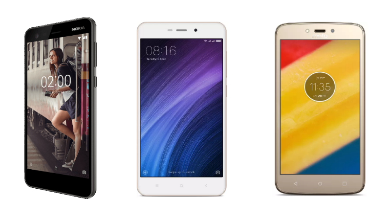 Nokia 2 vs Redmi 4A vs Moto C Plus: Price, Specifications Compared