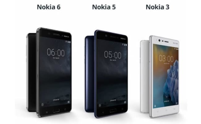 Nokia 3 Nokia 5 Nokia 6 Nokia 3 Nokia 5 Nokia 6