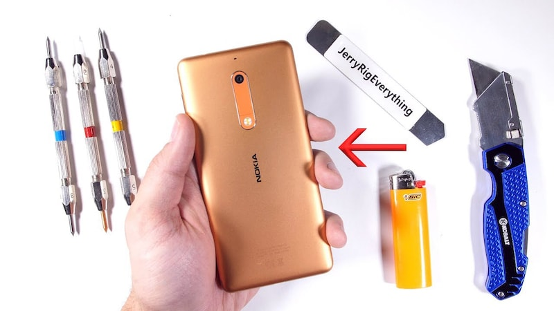 Nokia 5 Survives Bending and Burning in New Durability Test