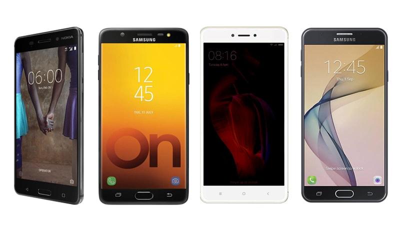 Nokia 6 vs Samsung Galaxy On Max vs Xiaomi Redmi Note 4 vs Samsung Galaxy J7 Prime: Price, Specifications Compared