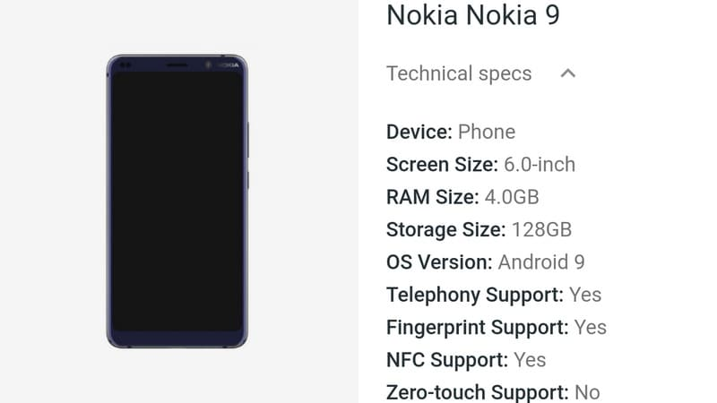 Nokia 9 PureView Spotted on Google's Android Enterprise Site Ahead of Launch; Reveals Render, Key Specifications